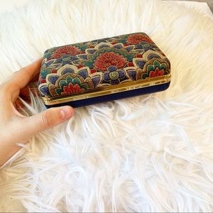 Vintage Floral Travel Jewelry Case